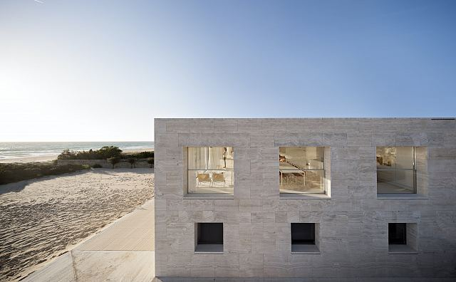Travertine Zena at House of the Infinite by Alberto Campo Baeza in collaboration with Tomás Carranza, Javier Montero in Cádiz, Spain. Photography by Javier Callejas..jpg